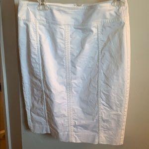 White Ann Taylor Astor Pencil Skirt
